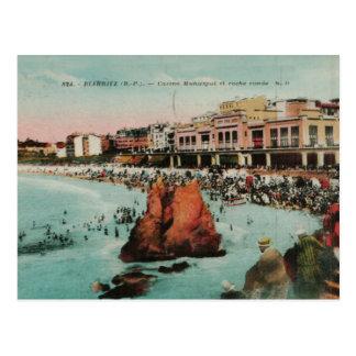 Reproducción 1917 de Biarritz Le casino Municipal Tarjetas Postales