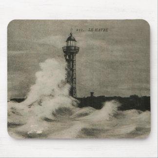 Reproducción 1920 del faro de Le Havre Alfombrilla De Ratón