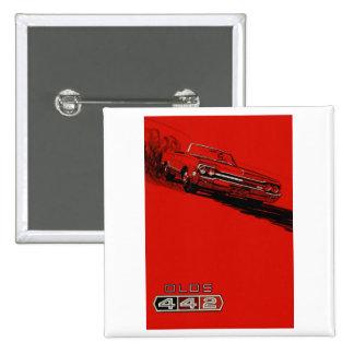 Reproducción 1964 del poster de Oldsmobile 442 Pin Cuadrada 5 Cm