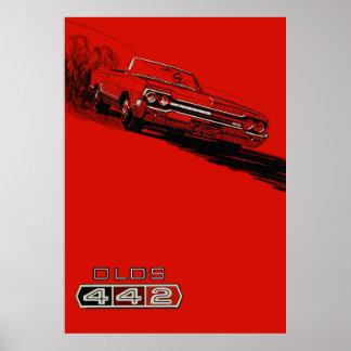 Reproducción 1964 del poster del vintage de Oldsmo