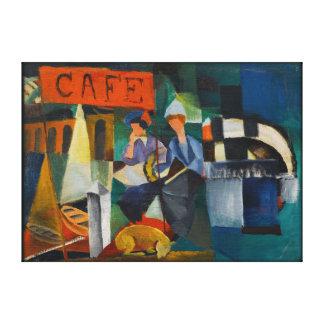 Reproducción azul del arte del expresionista del lona envuelta para galerías