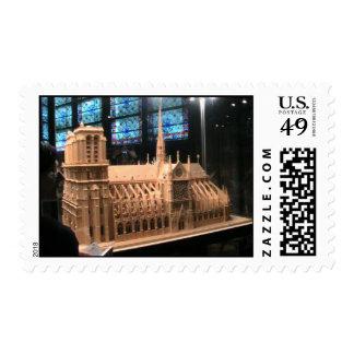 Reproducción de la catedral de Notre Dame Sellos