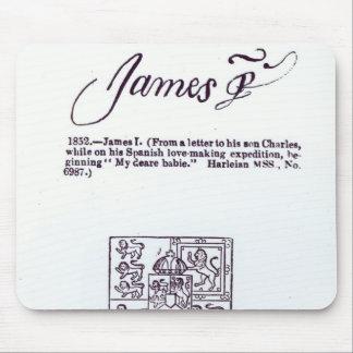 Reproducción de la firma de James VI y Alfombrillas De Raton