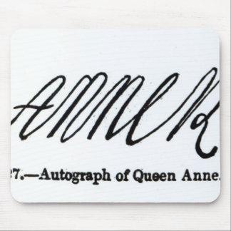 Reproducción de la firma de la reina Anne Mouse Pad