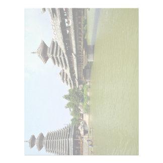 Reproducción de la lluvia de Guizhou de un puente  Membretes Personalizados