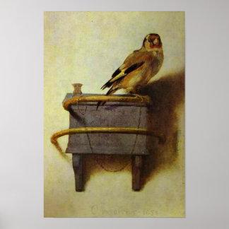 """Reproducción de la pintura """"del Goldfinch"""" Poster"""