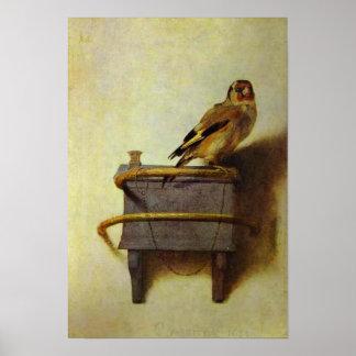 """Reproducción de la pintura """"del Goldfinch"""" Póster"""