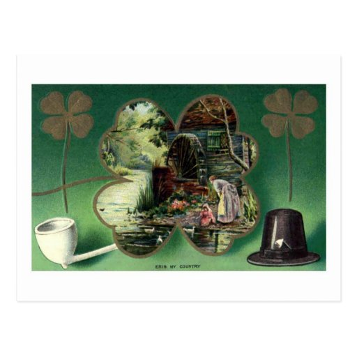 Reproducción de la postal del día de St Patrick de
