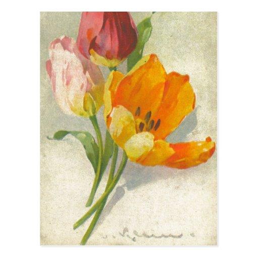 Reproducción de la postal del vintage de Catherine