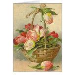Reproducción de la postal del vintage de Catherine Tarjetón