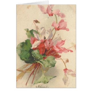 Reproducción de la postal del vintage de Catherine Felicitacion