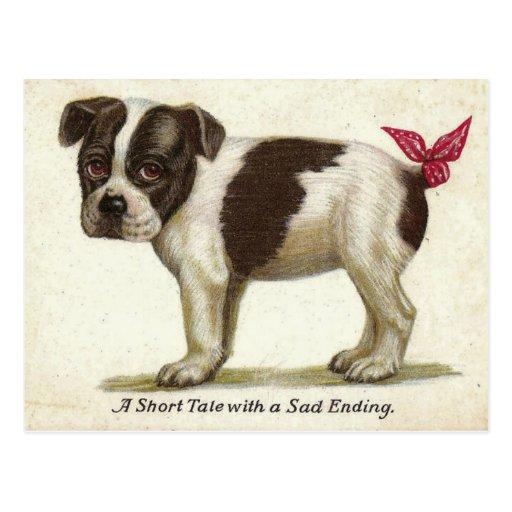 Reproducción de la postal del vintage - perro de