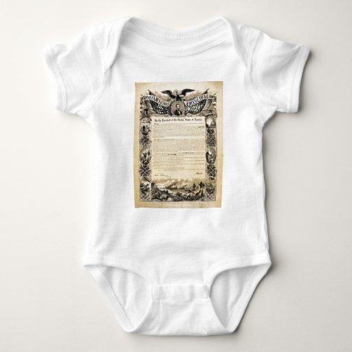 Reproducción de la proclamación de la emancipación polera