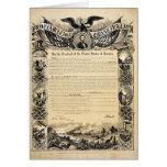 Reproducción de la proclamación de la emancipación felicitación