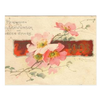 Reproducción de la tarjeta de felicitación de postal