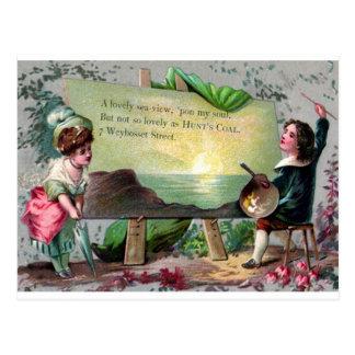 Reproducción de la tarjeta del el día de San Valen Tarjetas Postales