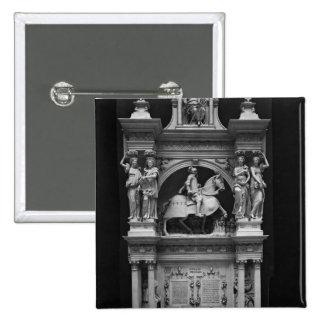 Reproducción de la tumba de Louis de Breze Pin Cuadrada 5 Cm