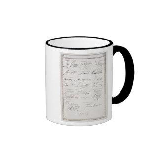 Reproducción de las firmas del Tudors y su Taza De Dos Colores