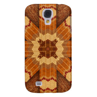 Reproducción de madera del diseño del embutido funda para galaxy s4