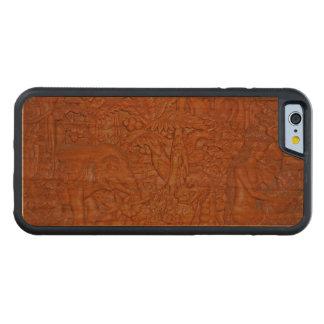 Reproducción de talla de madera de Bali Funda De iPhone 6 Bumper Cerezo
