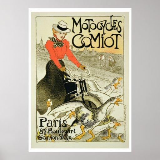 Reproducción de una publicidad de poster Comiot Mo