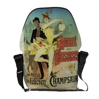 Reproducción de una publicidad de poster 'el amant bolsa messenger