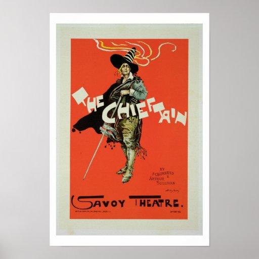 Reproducción de una publicidad de poster 'el Chief