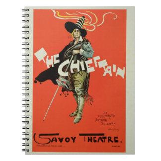 Reproducción de una publicidad de poster 'el Chief Cuadernos