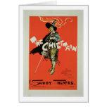 Reproducción de una publicidad de poster 'el Chief Tarjeta De Felicitación