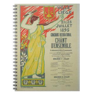 Reproducción de una publicidad de poster el 'Conco Notebook