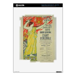Reproducción de una publicidad de poster el 'Conco Pegatinas Skins Para iPad 3