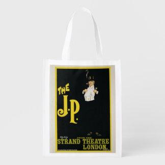 """Reproducción de una publicidad de poster """"El J.P."""" Bolsas Reutilizables"""