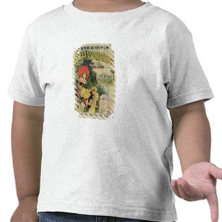 Reproducción de una publicidad de poster el camisetas