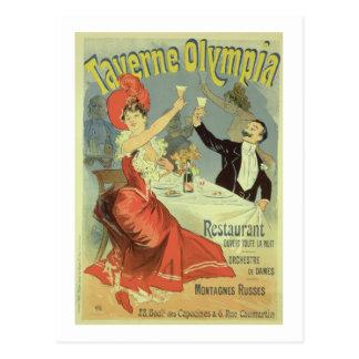 Reproducción de una publicidad de poster el postal