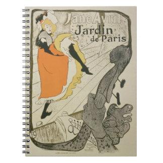 Reproducción de una publicidad de poster 'Jane Avr Libro De Apuntes Con Espiral