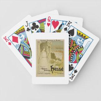 Reproducción de una publicidad de poster la ópera  baraja de cartas bicycle