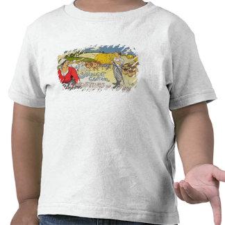 Reproducción de una publicidad de poster la camisetas