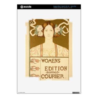 Reproducción de una publicidad de poster las 'muje iPad 3 pegatinas skins