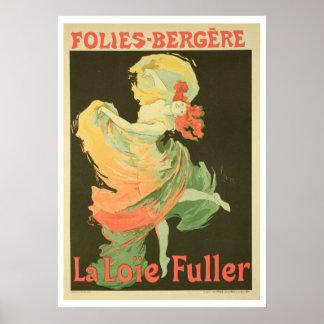 Reproducción de una publicidad de poster Loie Ful