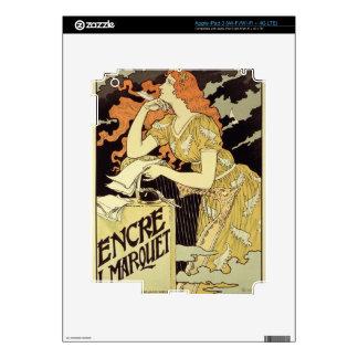Reproducción de una publicidad de poster 'Marquet  iPad 3 Pegatinas Skins