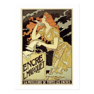 Reproducción de una publicidad de poster 'Marquet Tarjeta Postal