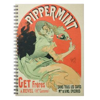 """Reproducción de una publicidad de poster """"Pippermi Libros De Apuntes Con Espiral"""
