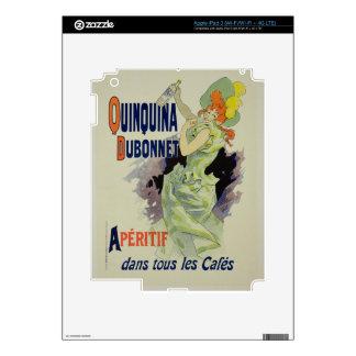 Reproducción de una publicidad de poster 'Quinquin iPad 3 Skins