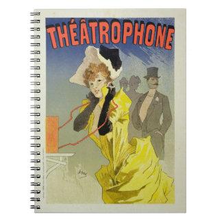 Reproducción de una publicidad de poster 'Theatrop Note Book