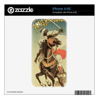 Reproducción de una publicidad de poster un 'Exhib iPhone 4 Calcomanía