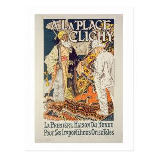 Reproducción de una publicidad de poster 'un lugar tarjeta postal