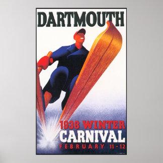 Reproducción del carnaval del invierno de Dartmout Póster