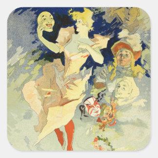 """Reproducción del """"La Danse"""", 1891 (litho) Pegatina Cuadrada"""