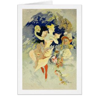 """Reproducción del """"La Danse"""", 1891 (litho) Tarjeta De Felicitación"""