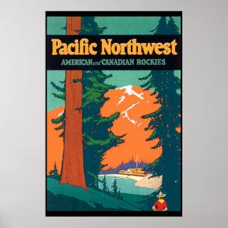 Reproducción del noroeste pacífica del poster del  póster